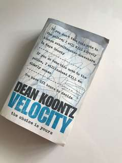 🚚 Dean Koontz Velocity