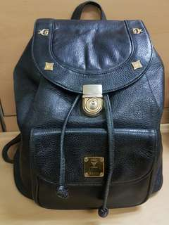 Authentic Rare find MCM black leather