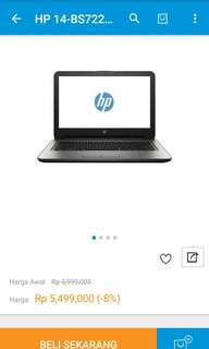 New!! Laptop hp 14Bs722