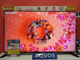 "Sharp 60"" LED Flat Smart TV Aquos Promo Free 1X cicilan tanpa kartu kredit proses 3 menit"