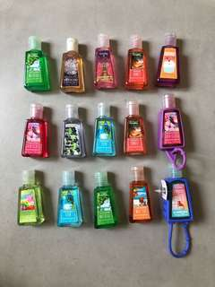 Baths & Bodyworks hand sanitizers with holder