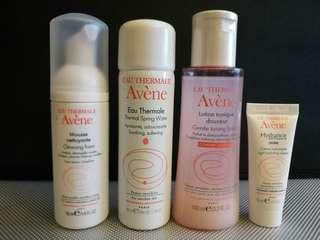Brand New Avene Eau Thermale 4 pcs Travel Set