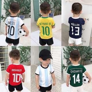 ⚽️世界盃親子裝波衫⚽️一家三口裝