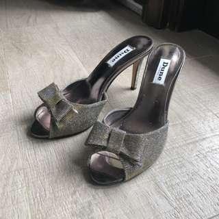 Dune shimmer heels for sale!