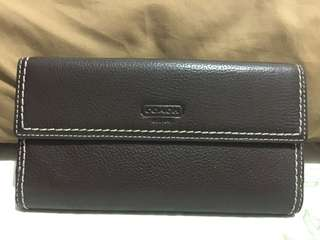 Authentic Coach leather brown wallet