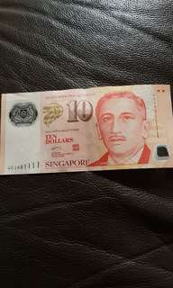 $10 dollar note