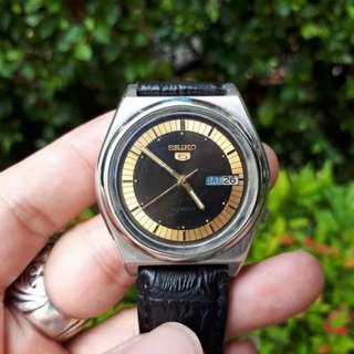 Jam Antik Seiko 5 Cal 7009-3101 Automatic Day Date Men's Vintage Watch SK001