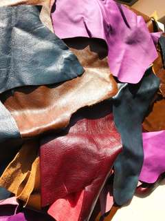 100% Genuine Leather Pieces @ greatly reduced price of $25 per 1 kg or $40 for 2kg