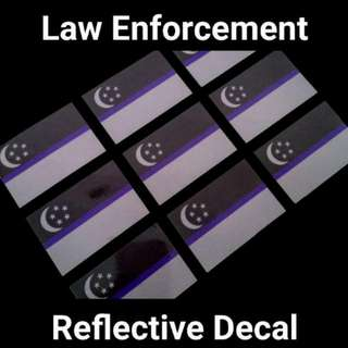 Police Blue Line Reflective Decal
