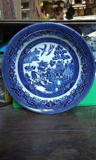 6 inches english blue willow bowl