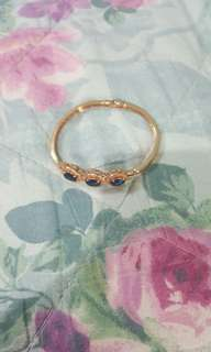 Bracelet yellow gold with blue stones