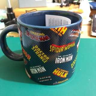(全新) Marvel Comics 瓷杯 連瓷墊 藍色