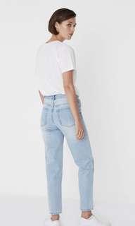 Assembly label jeans