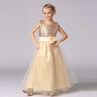 Sleeveless Sequin Flower Girl Dress