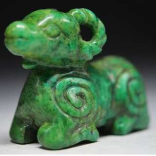 (Collectible)Big Size.Chinese Hand engraving sheep Malachite Statuette. Shop may sell few 100s.