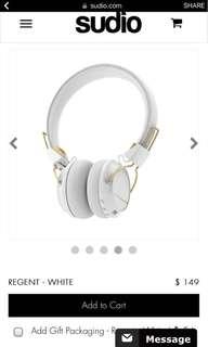 Sudio Regent White Headphones