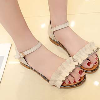 New Lotus Leaf Retro Flat Sandals