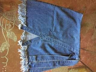 REPRICED! Denim skirt with little slit