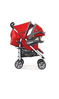 Chicco KeyFit 30 Trevi Travel System Adventure Stroller with Infant Car seat base