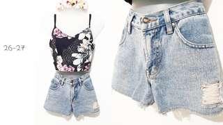 Denim HW shorts