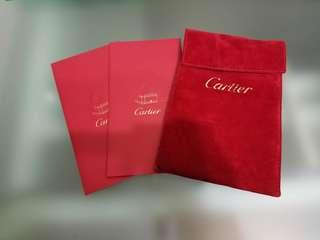 Cartier 手錶塵袋 利是封