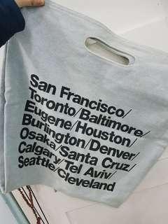 American Apparel Light Denim Cities Tote Bag
