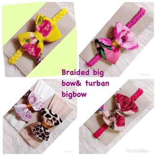 Braided bigbow &turban bigbow