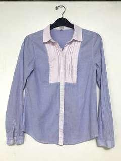Arrow Blue Long sleeves Polo Stripes