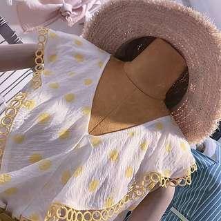 🚚 060105(S~M)東大門夏季新款荷葉邊無袖上衣