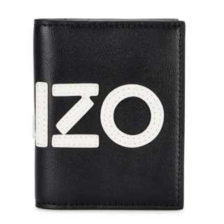 KENZO Logo-appliquéd leather cardholder