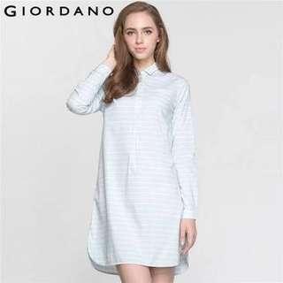 Giordano Women Solid Shirt Dress