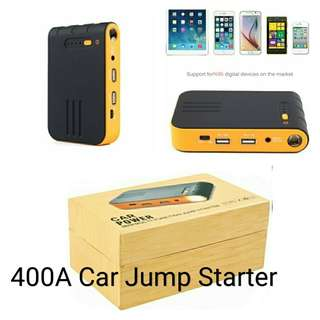 Auto 400A Jump Starter Multi-Function 8800mAh for car engine up to 2.5 litres External Power Bank Charger charging iPhone, all smart phone and usb devices
