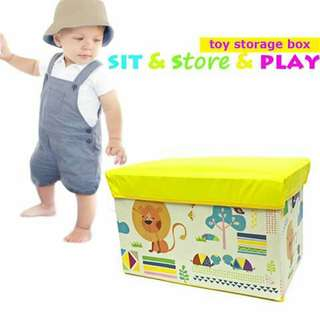 (1) Toy Storage Box - YELLOW