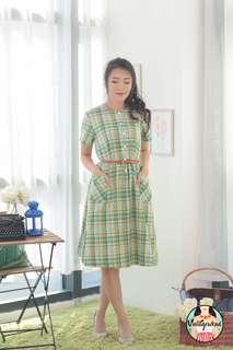🍿 Vintage Midi Dress VD1302