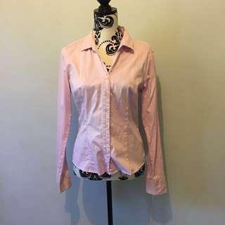 Pink buttondown polo