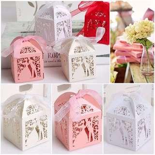 HKA0231 - (GSS) 25pcs Bride & Groom Wedding Gift Boxes