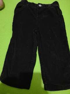 Black.coldoroy pants 18-24months