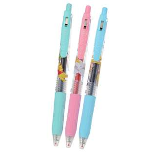 JAPAN DISNEYSTORE, JAPAN IMPORTED: Ball Pen Series : Winnie The Pooh & friend Party Sarasa Clip 0.5 Gel Ball Pen