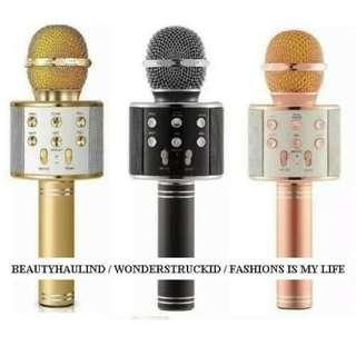 Mic Bluetooth Wireless Karaoke Mikrofon Microphone Smule Kualitas Vokal Merdu WSTER WS-585