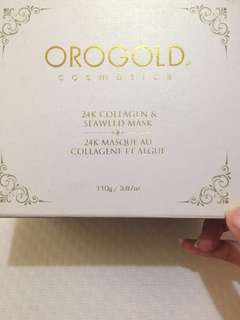 Orogold's 24k Collagen & Seaweed Mask