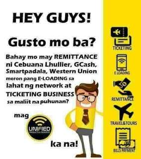 Western Union, Cebuana, Bayad Center, Airline Ticketing Franchising