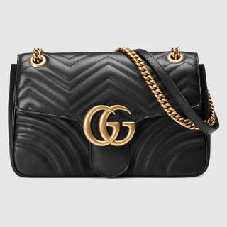 ✨black gucci marmot metalasse