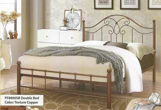 Double bed katil besi - PF8890 SB