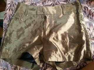 Gold High-Waisted Shorts