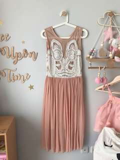 Lacey Dress Peach