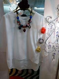 白色春季上衣 (新款)