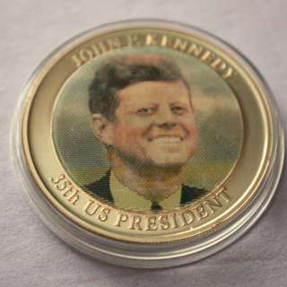USA KENNEDY JFK & The WHITE HOUSE commemorative proof coin 2008