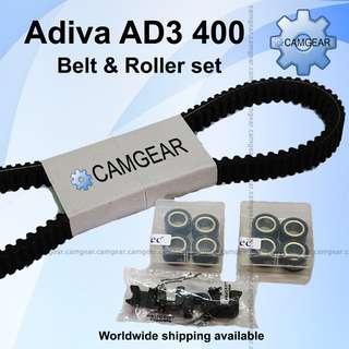 Adiva Ad3 400 belt Roller set