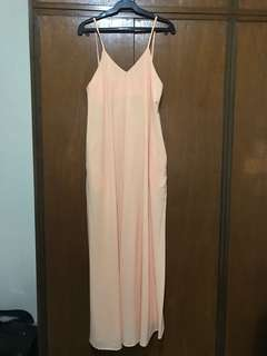 Maliche peach sideboob maxi dress