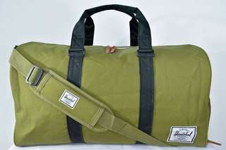 Herschel Novel Olive Green Duffle Bag